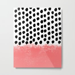 Lola - Abstract, pink, brushstroke, original, painting, trendy, girl, bold, graphic Metal Print