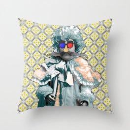 Mustache Baby Throw Pillow