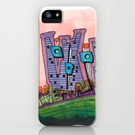 Waterfront Apartments Architectural Illustration 57 iPhone Case