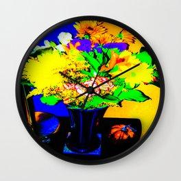 Vibrant Floral 1 Wall Clock