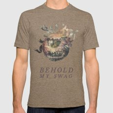 Beholder (Typography) SMALL Mens Fitted Tee Tri-Coffee