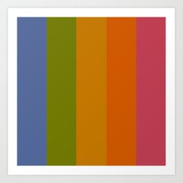Rainbow Stripes /// pencilmeinstationery.com Art Print