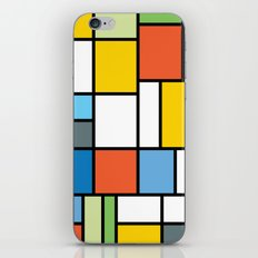The Colors of / Mondrian Series - Simpsons iPhone & iPod Skin