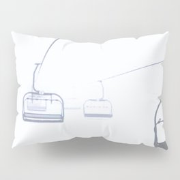 B&W Skilift Poster Pillow Sham