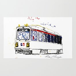 Septa Trolley Art: Philly Public Transportation Rug