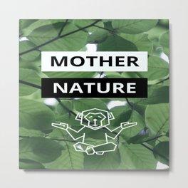 Mother Nature Monkey Digital Art Metal Print