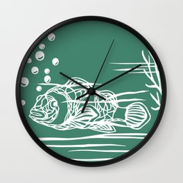 Bajo el mar Wall Clock