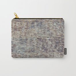 Sawn Along Tile Pattern Wall Texture Carry-All Pouch