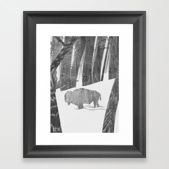 Martwood Bison Framed Art Print