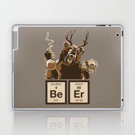 Funny chemistry bear discovered beer Laptop & iPad Skin
