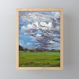 clouds over Sagamore farms Framed Mini Art Print