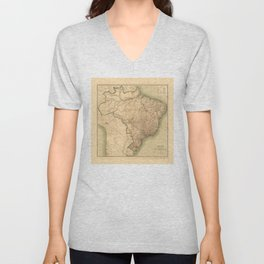 Map of Brazil (1905) Unisex V-Neck