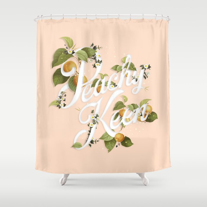 Peachy Keen Peach Shower Curtain By Tamedblossom