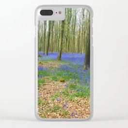 Bluebell woods Clear iPhone Case