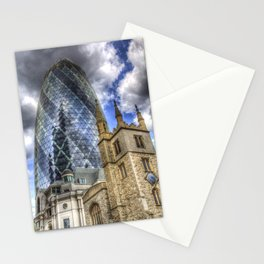 The Gherkin and St Andrew Undershaft Church Stationery Cards