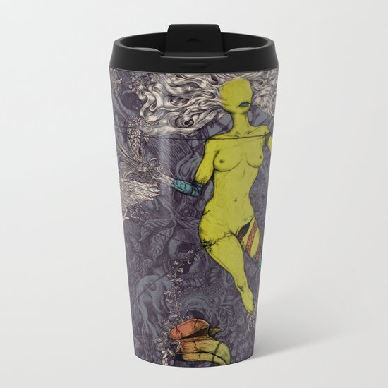 Women Naturally Tree Metal Travel Mug