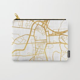 BELFAST UNITED KINGDOM CITY STREET MAP ART Carry-All Pouch