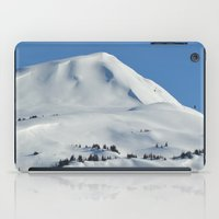 skiing iPad Cases featuring Back-Country Skiing  - VI by Alaskan Momma Bear