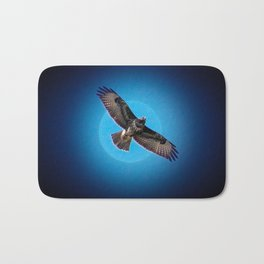 Bird of prey in the moonlight Bath Mat