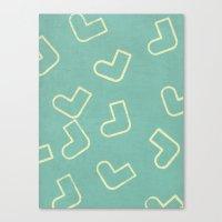socks Canvas Prints featuring Socks by sinonelineman