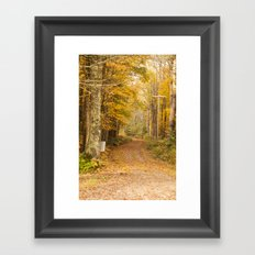 The Unpaved Path - Fall Colors Framed Art Print