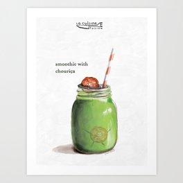 La Cuisine Fusion - Smoothie with Chouriça Art Print