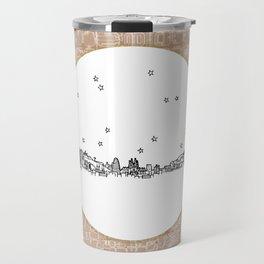 Barcelona, Spain City Skyline Illustration Drawing Travel Mug