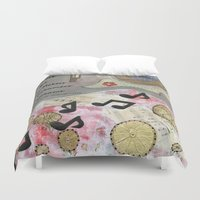 nashville Duvet Covers featuring Nod to Nashville by E.Seefried Art