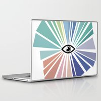 all seeing eye Laptop & iPad Skins featuring All seeing eye  by Nobra