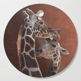 Endearing Giraffes Cutting Board