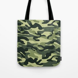 Green Military Camouflage Pattern Tote Bag