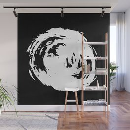 Whorl Black and White Wall Mural