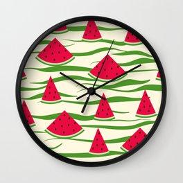 Watermelon pattern . 2 Retro . Wall Clock