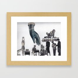 Blue is the color of my true loves hand Framed Art Print