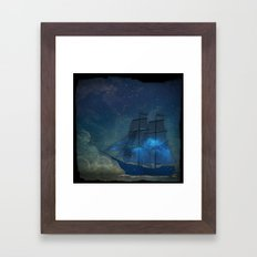 Ships and Stars Framed Art Print