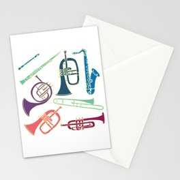 Wind instruments Stationery Cards