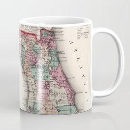 Vintage Map of Florida (1873) Coffee Mug
