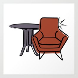 Table & Chairs 06 Art Print