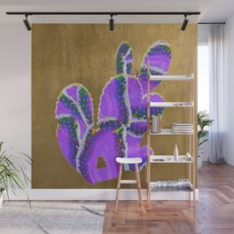 prickly pear agate in purple Wall Mural