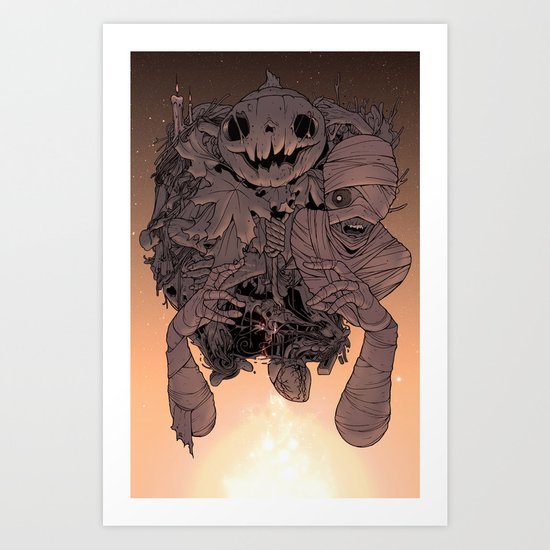 Tell me a scary story  Art Print