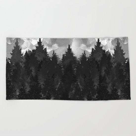 Winter Darkness Beach Towel
