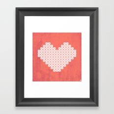 Heart X Red Framed Art Print