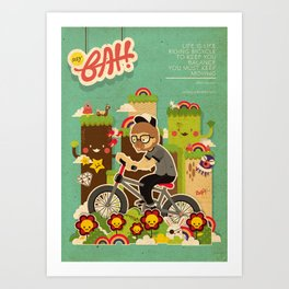 Mr.Bongo Cycling Art Print