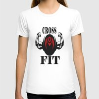 crossfit T-shirts featuring CROSSFIT 1 by Robleedesigns