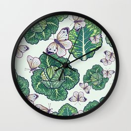 butterflies in the garden Wall Clock