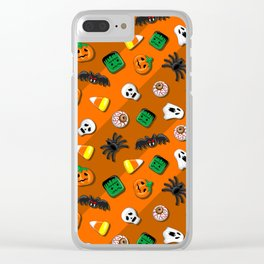 Halloween Spooky Candies Party Clear iPhone Case