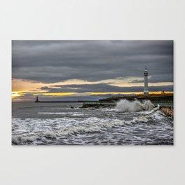 Seaburn and Roker Lighthouses Canvas Print