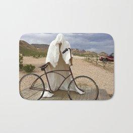 Ghost with bike Bath Mat
