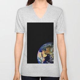 Earth Globe Space Unisex V-Neck