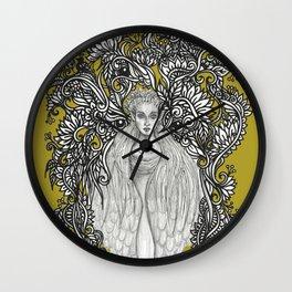 Swan Dragon Fae Wall Clock